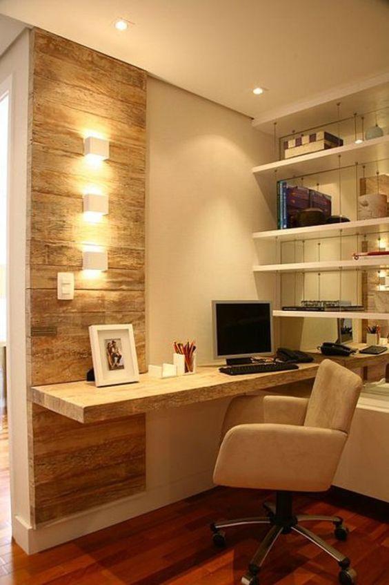 Decora o de escrit rio em apartamento pequeno fotoss decor for Tipos de adornos para escritorio de oficina