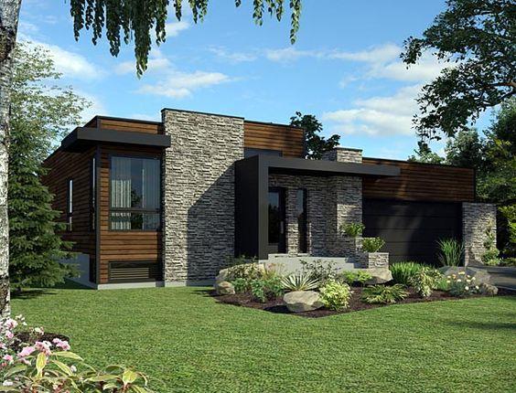 Decora o de fachadas de casas com pedras fotoss decor for Casa ultramoderna