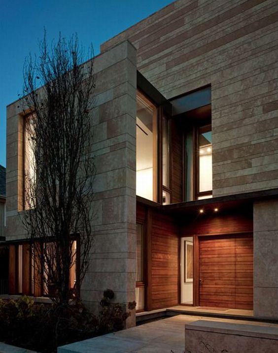 Decora o de fachadas de casas com pedras fotos - Materiales para fachadas de casas ...