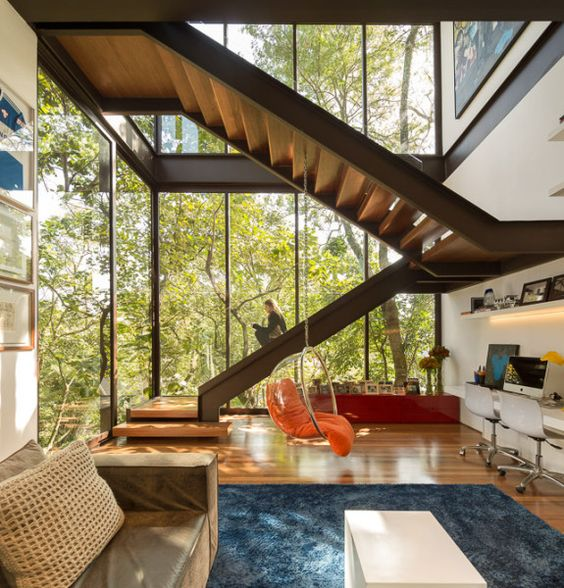 Escadas de madeira residenciais internas modelos fotoss for Muebles paulo