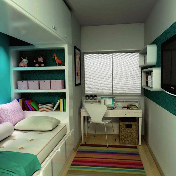 Ideias de decora o para quarto de solteiro feminino for Cameretta 3x3