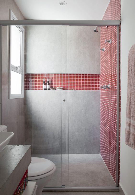 banheiros decorados com pastilhas