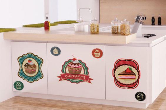 Modelos de Cozinhas Decoradas com Adesivos
