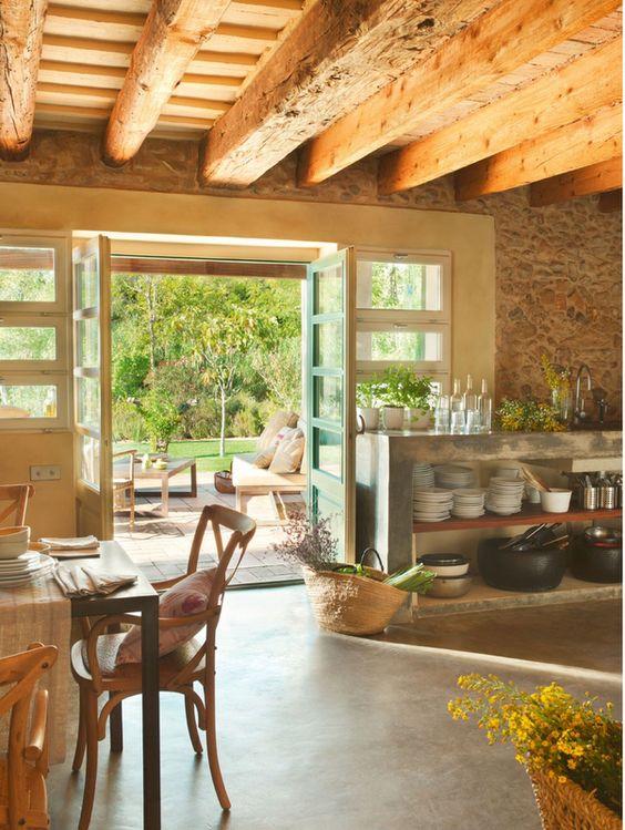 Decora o de casas de campo pequenas e simples fotoss decor for Imagenes de garajes rusticos