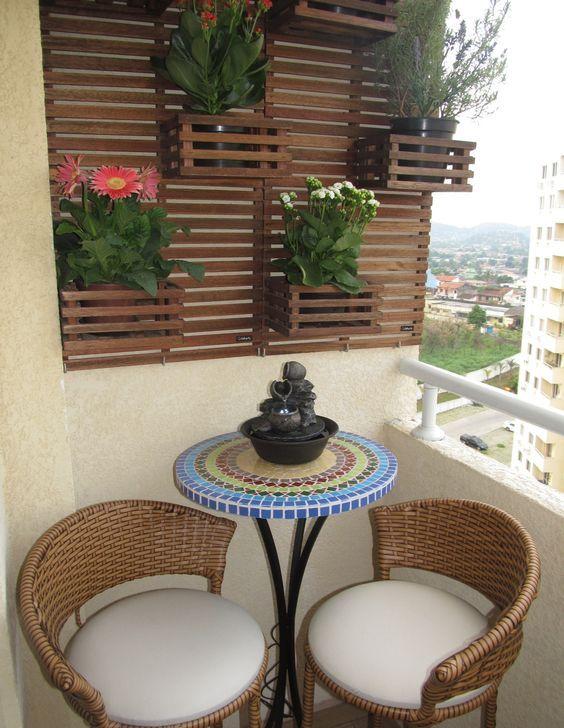 Decoraç u00e3o de Varandas Pequenas com Plantas Fotos -> Decoração De Varanda Com Vasos De Plantas
