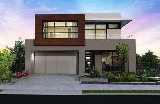 Fachadas de casas duplex com telhado embutido fotos for Fachadas de casas modernas a desnivel