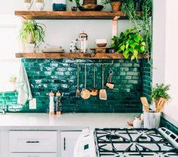 Cozinhas Decoradas com Prateleiras