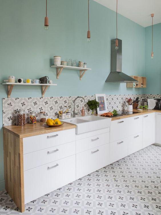 Patterned Kitchen Tiles Pink