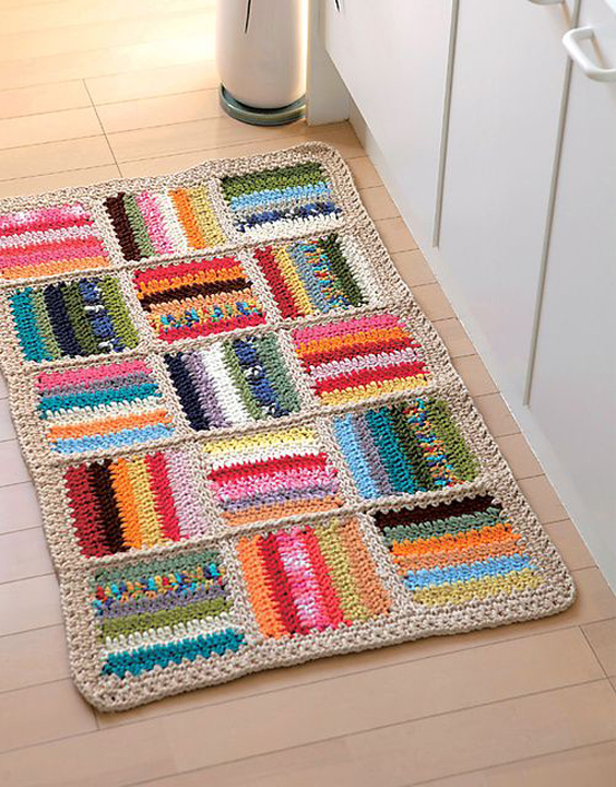 25 tapetes de barbante croch para banheiro e salas decor - El corte ingles hogar alfombras ...