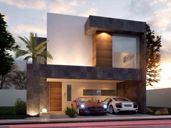 Fachadas de casas simples com cer mica modelos fotoss decor for Ver fachadas de casas minimalistas