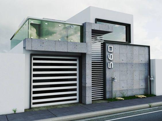 Fachadas de casas simples com cer mica modelos fotoss decor Fachadas de casas minimalistas 2016