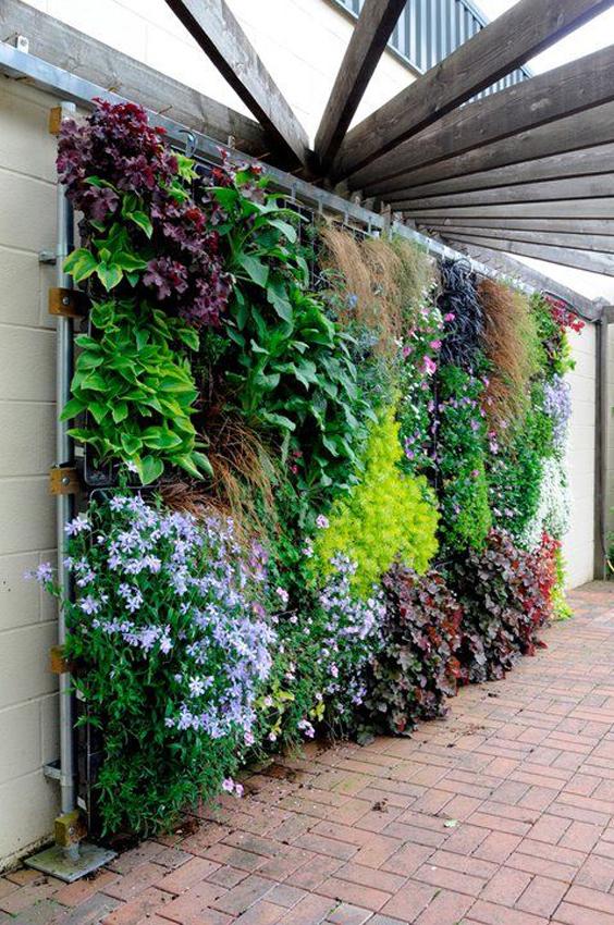 60 fotos de muros decorados com plantass decor for Imagenes de jardines verticales pequenos