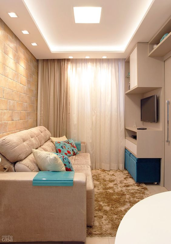 25 projetos de ilumina o para ambientes pequenoss decor for Decoracion apartamento pequeno 2016