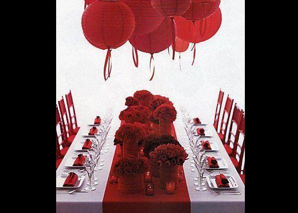 Casamento Vermelho e Branco Simples