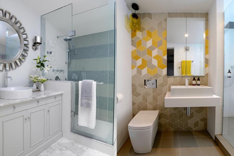 Decoração de banheiro social pequeno 24 modelosSó Decor -> Banheiro Decorado Social