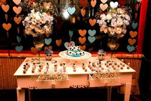 ideias para decoração de noivado simples e barato