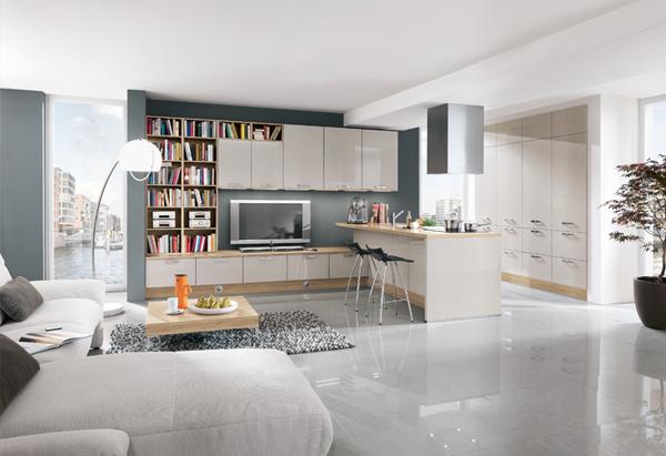 cozinha integrada na estante