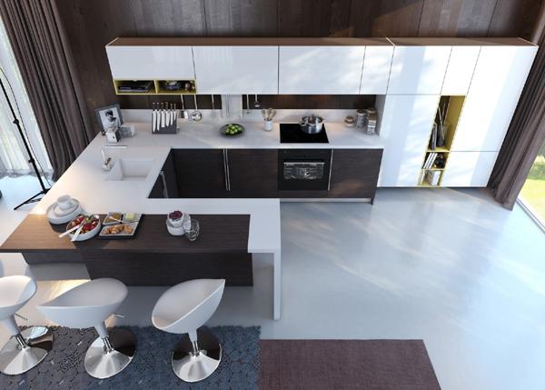 cozinha integrada chique
