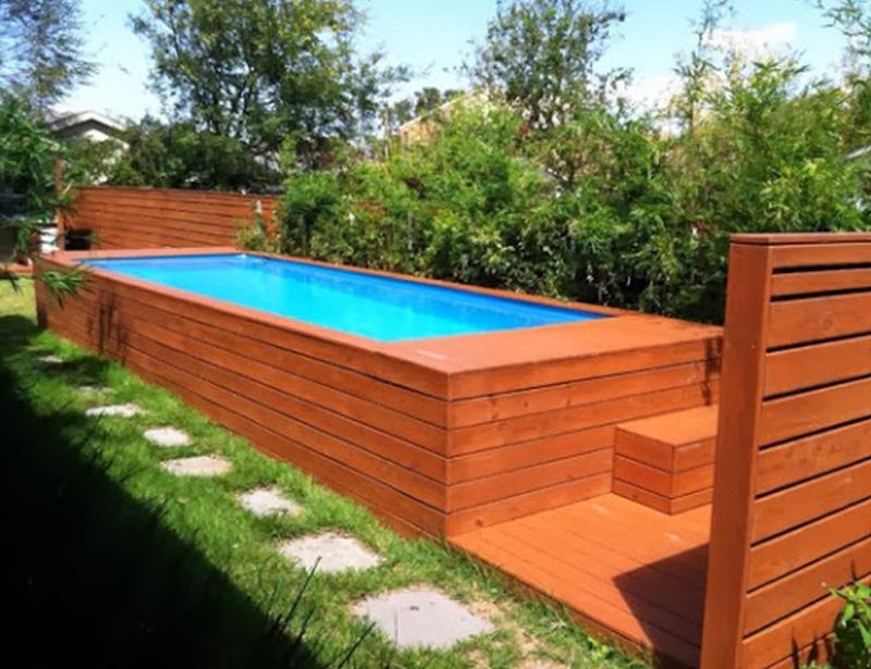 deck alto e piscina