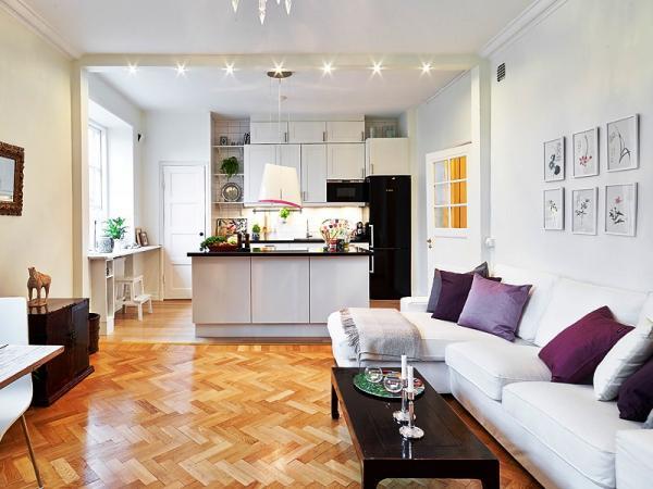 cozinha integrada acolhedora