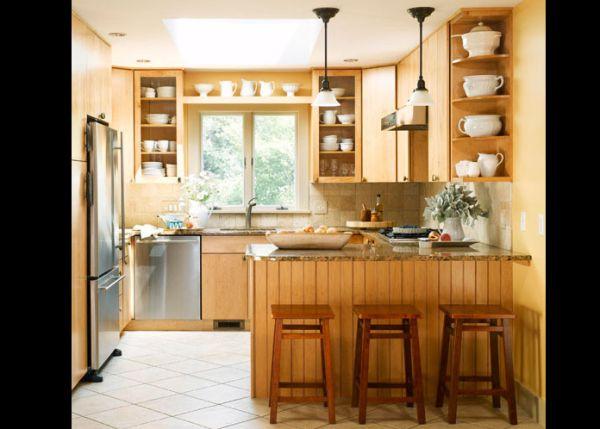 cozinha integrada com bancos