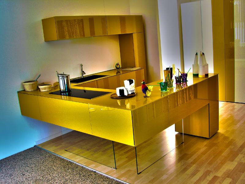 cozinha planejada com vasos