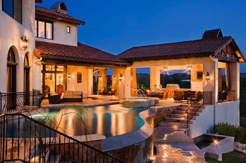 piscina de luxo no rancho