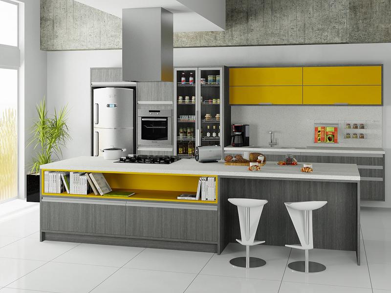 cozinha planejada com livro