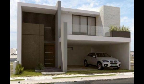 fachada de casa com linhas retas