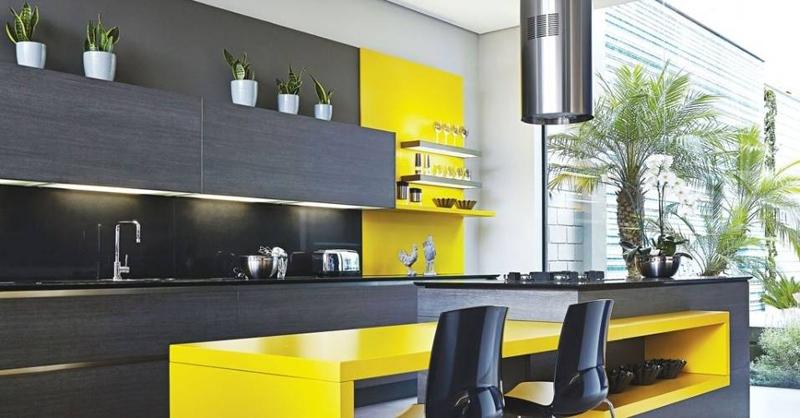cozinha planejada com balcao