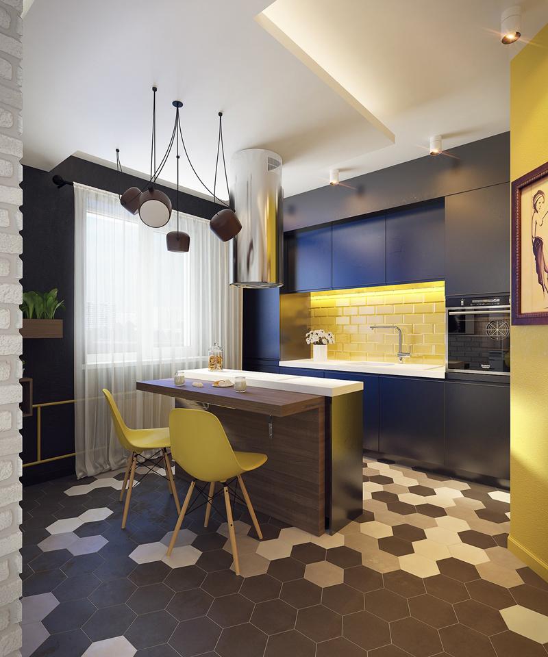 cozinha planejada com quadro
