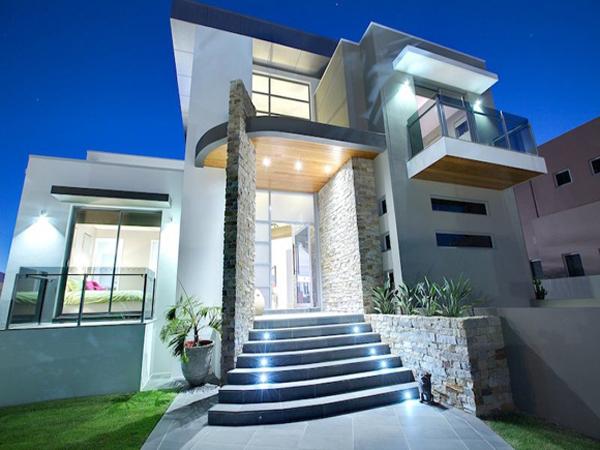 fachada de casa colunas