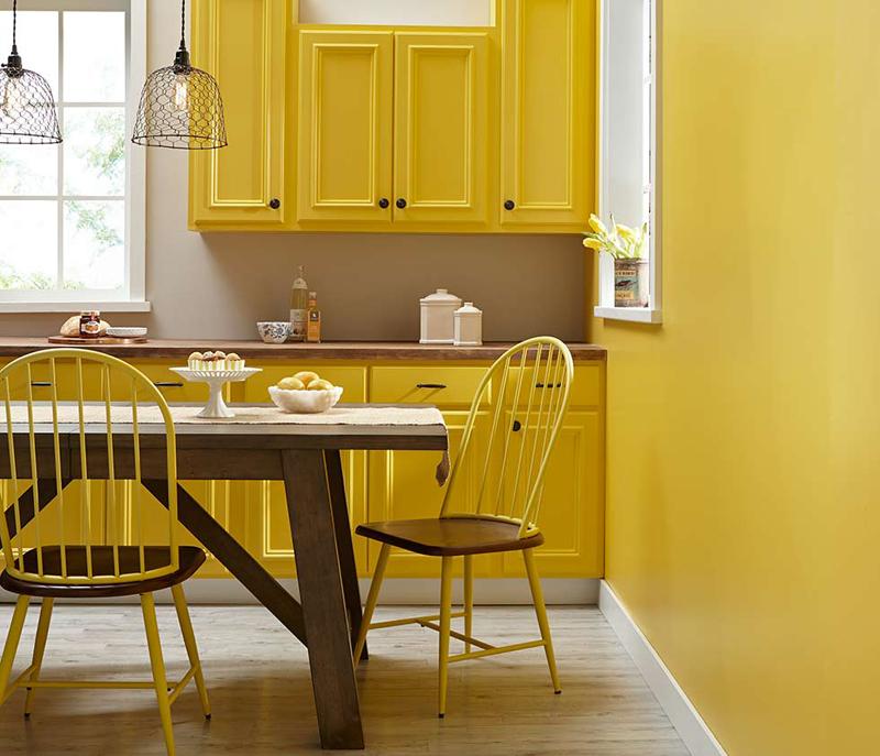 mesa na cozinha planejada