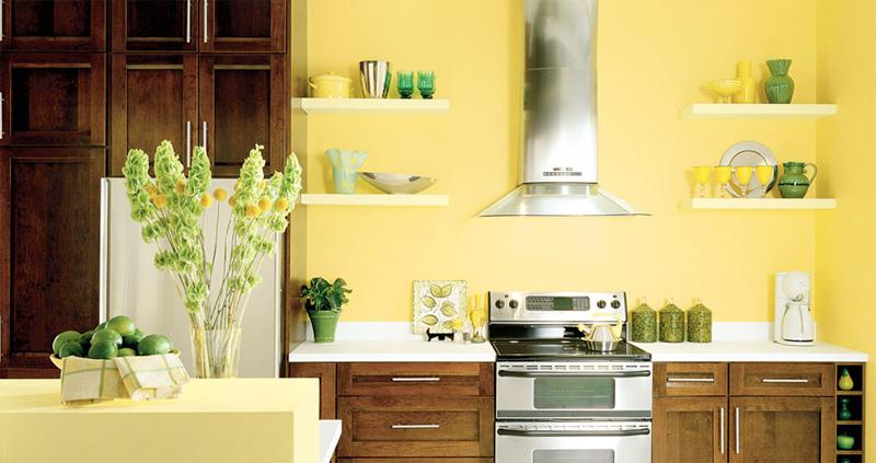 cozinha planejada com madeira