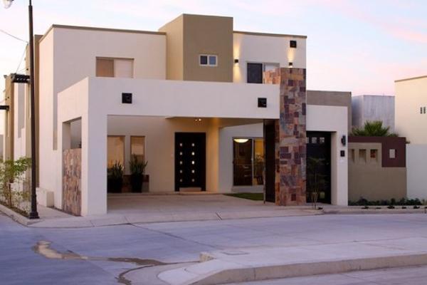 fachada de casa com detalhes