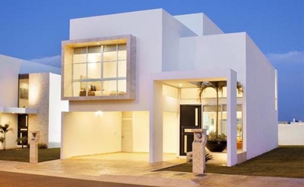 casa com janela quadriculada