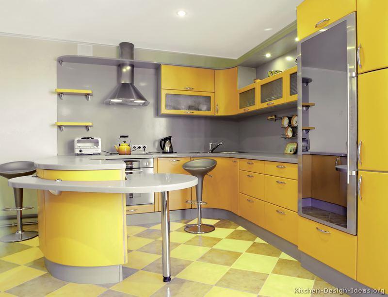 cozinha planejada com balcao curvo