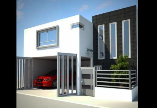 fachada de casa com 2 cores