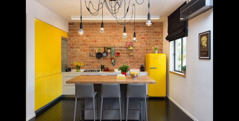 tijolo na cozinha planejada