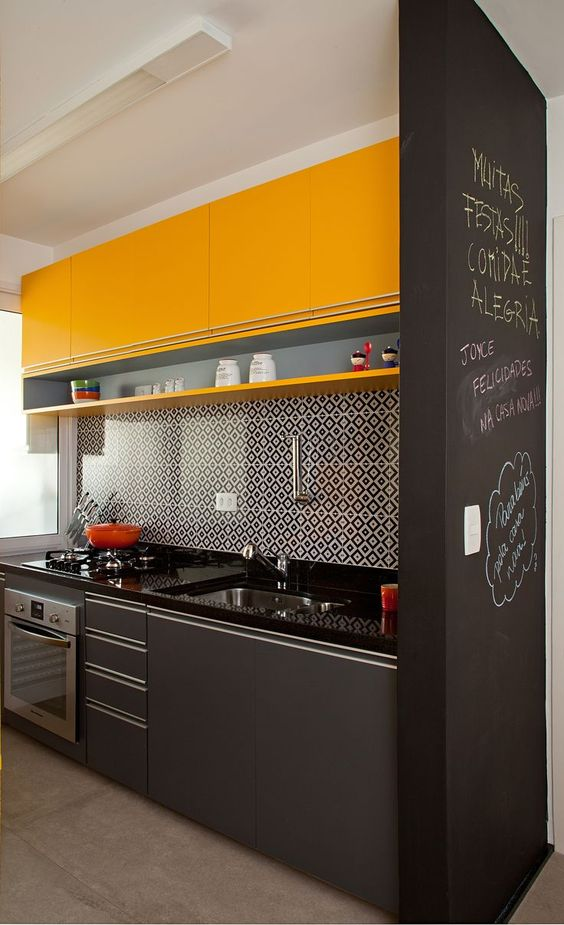 cozinha com amarelo