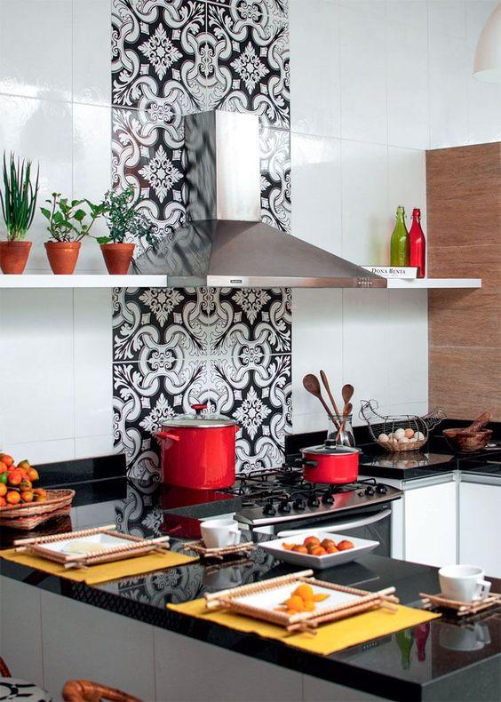 cozinha com estampa