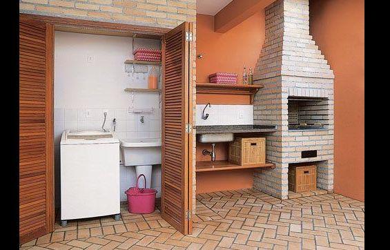 espaço do churrasco com lavanderia