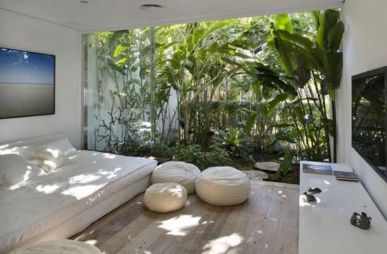 jardim interno no quarto