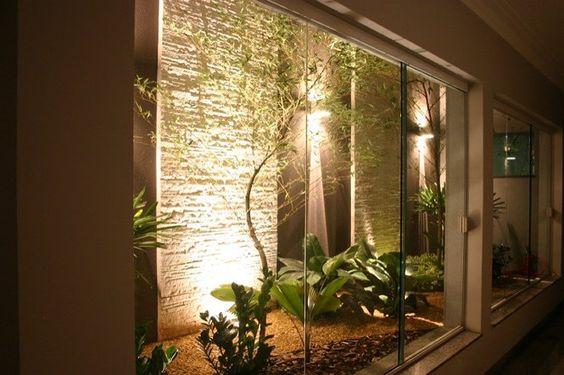 jardim interno com poucas plantas
