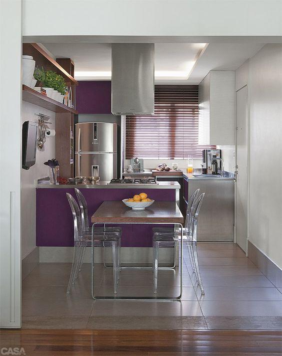 cozinha com roxo