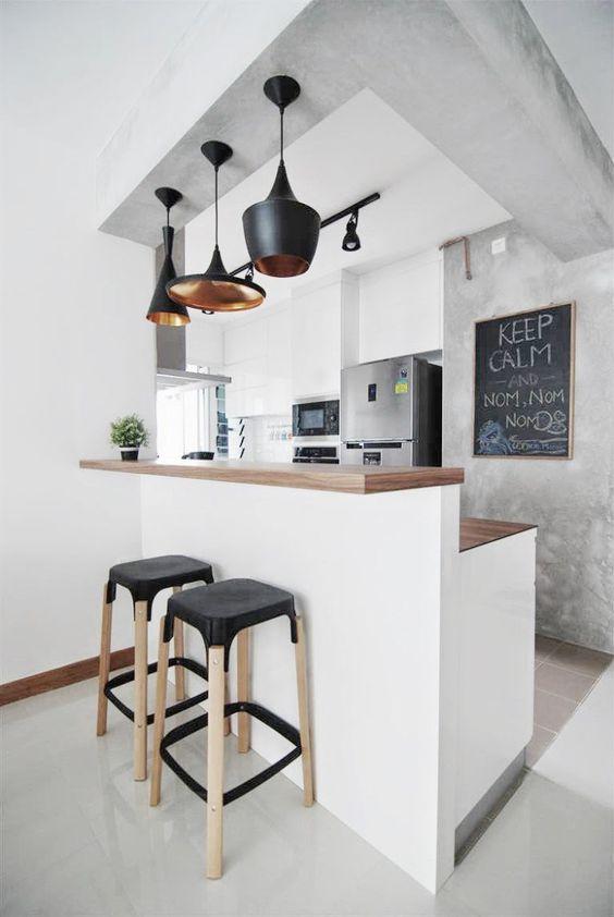 cozinha com quadro