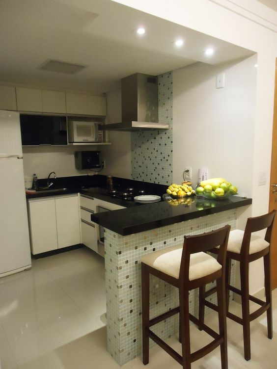cozinha com faixa