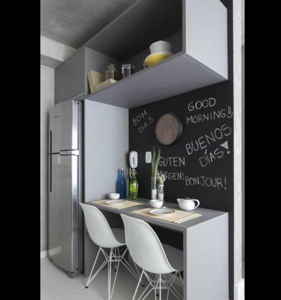 cozinha com giz