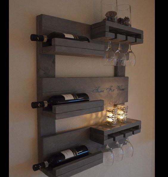 barzinho de parede com velas