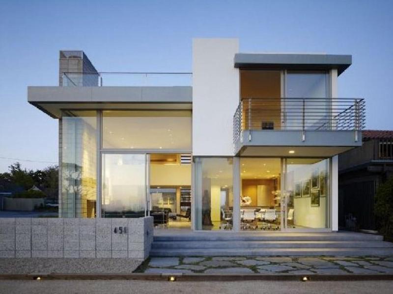casa linda com vidro